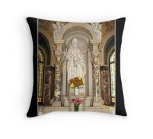 St. Anne and St. Mary Statue Throw Pillow