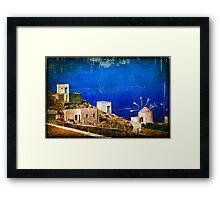 Quiet Day :: Olympos :: Karpathos Island - Greece Framed Print