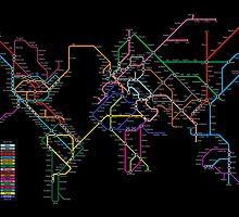 World Metro Map by Michael Tompsett