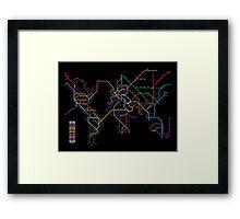 World Metro Map Framed Print