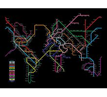 World Metro Map Photographic Print