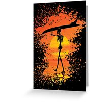 Skeleton with surfboard Greeting Card