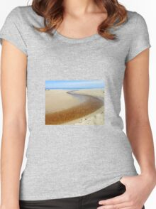 Journey's End - Tolsta Beach Women's Fitted Scoop T-Shirt