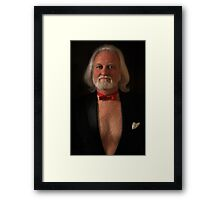 Large Headshot with Tux and Tails Framed Print