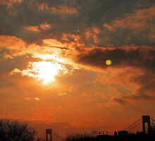 Verrazano Sunset Moon by Mistyarts