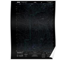 USGS Topo Map Nevada McConnell Peak 20111229 TM Inverted Poster