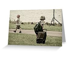Young Travelers - Running Away Greeting Card