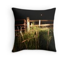 By the headlights beam Throw Pillow