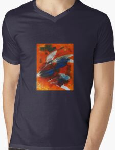 Print workshop - Woodend Art Group (mono print 1) Mens V-Neck T-Shirt