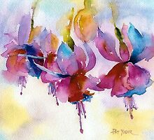 Floral Watercolors by Pat Yager by Pat Yager