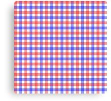 Red white and blue check Canvas Print