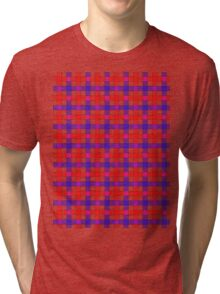 Red white and blue check Tri-blend T-Shirt