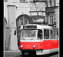 prague tram by jogennard