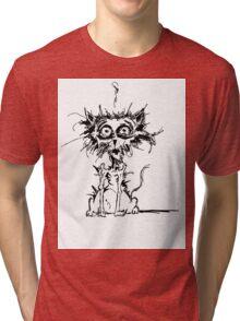 Angst Cat Tri-blend T-Shirt