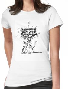 Angst Cat Womens Fitted T-Shirt