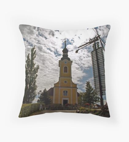 Our Lady of Sorrows Throw Pillow