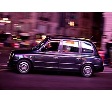 London glowing Taxi Photographic Print