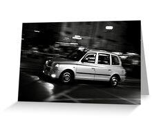 Taxi speeding up Greeting Card