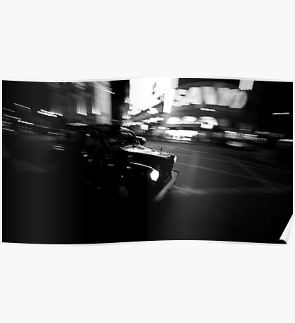 Flashing taxi Poster