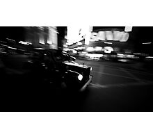 Flashing taxi Photographic Print