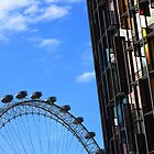 London eye and coloured building by remos