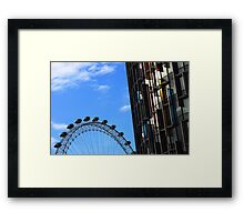 London eye and coloured building Framed Print