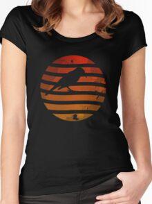 Bird Grunge Sunset Women's Fitted Scoop T-Shirt