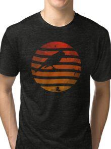 Bird Grunge Sunset Tri-blend T-Shirt