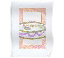 Birthday rainbow Cake Poster