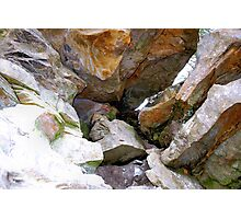 Boulders up close! Photographic Print