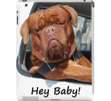 Greeting Card Dog Leaning Out of Car iPad Case/Skin