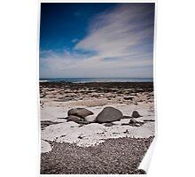 A Pebbled Beach Poster