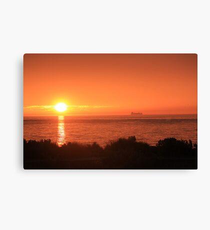 Bay Sunset - Brighton view, Port Phillip Bay Canvas Print