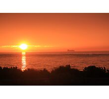Bay Sunset - Brighton view, Port Phillip Bay Photographic Print