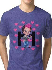 PINKIPLIER - Markiplier pink hair chibi1 Tri-blend T-Shirt