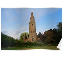 St Mary, Langley from the west Poster
