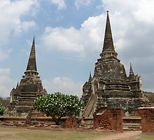 Two Stupas on a Beautiful Day by Christian Eccleston