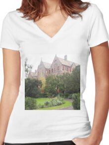 The Abbotsford Convent, Collingwood, Vic.  Classified by National Trust Australia Women's Fitted V-Neck T-Shirt
