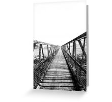 Bridge over still waters Greeting Card