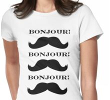 Mustache Love Womens Fitted T-Shirt