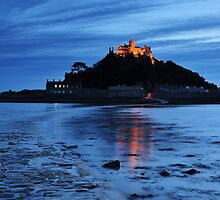 St Michaels Mount at Night.  by Rachel Slater