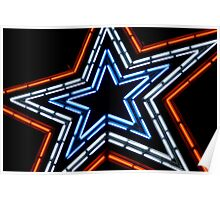 Lit Up Neon Star Poster