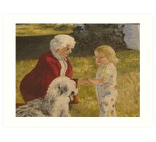 Nellie, Erika and Topper .. oil on canvas '76 Art Print