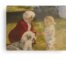 Nellie, Erika and Topper .. oil on canvas '76 Metal Print