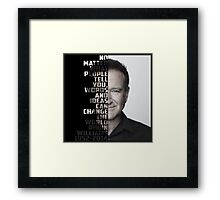 Robin Williams, inspirational quote Framed Print