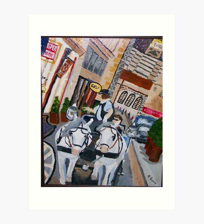 Austrian streets Art Print