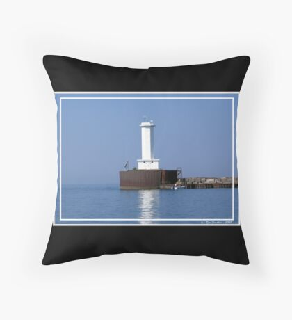 Buffalo Breakwater Lighthouse Throw Pillow