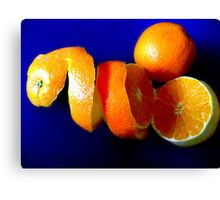 Orange in a twist Canvas Print
