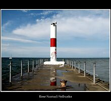 Rochester Harbor Lighthouse by Rose Santuci-Sofranko