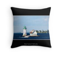 Sunken Rock Lighthouse Throw Pillow